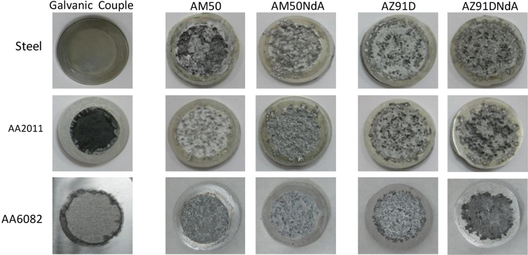 Corrosión galvánica de aleaciones de magnesio AM50 y AZ91D